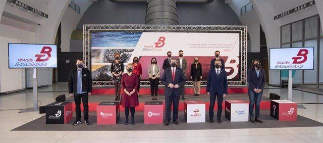 Presentación del campeonato europeo de triatlón 2022 en Bilbao