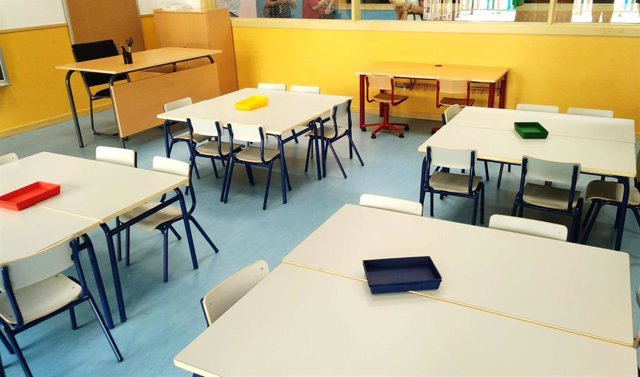 Aula de un colegio. Archivo