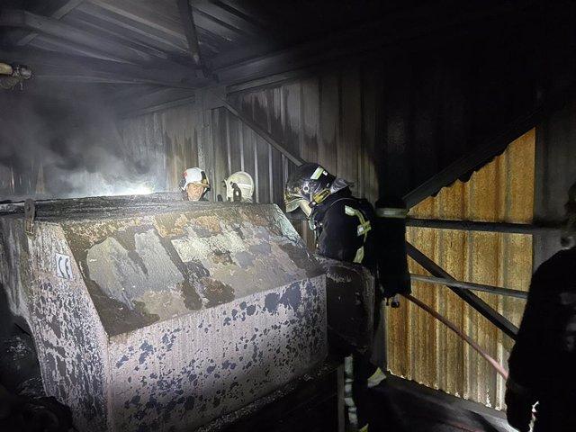 Incendio en una cementera de Morata de Tajuña