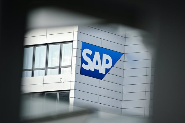 FILED - 17 January 2020, Walldorf: A general view of the German software company SAP placed on the company building. SAP, Europe's largest software provider, shrugged off the coronavirus crisis to post a significant rise in profit in the second quarter, a