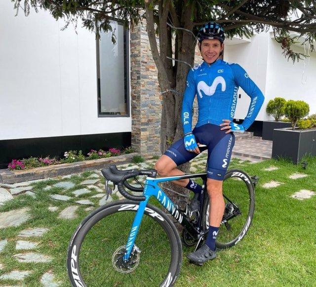 El ciclista colombiano Miguel Ángel López, en su primera temporada en el Movistar Team