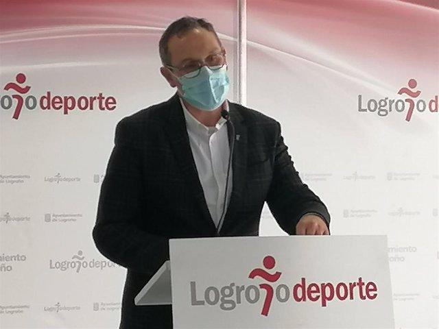 El concejal de Deportes, Rubén Antoñanzas