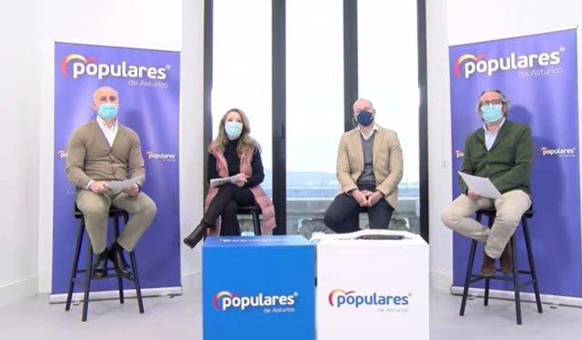 Juan Carlos Ablanedo, Teresa Mallada, Secundino González y Fermín Landeta