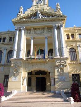 Fachada Del Ayuntamiento De Málaga