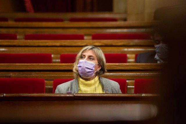 La consellera de Salud de la Generalitat, Alba Vergés, durante una sesión en la Diputación Permanente del Parlament, en Barcelona, Catalunya, (España), a 13 de enero de 2021