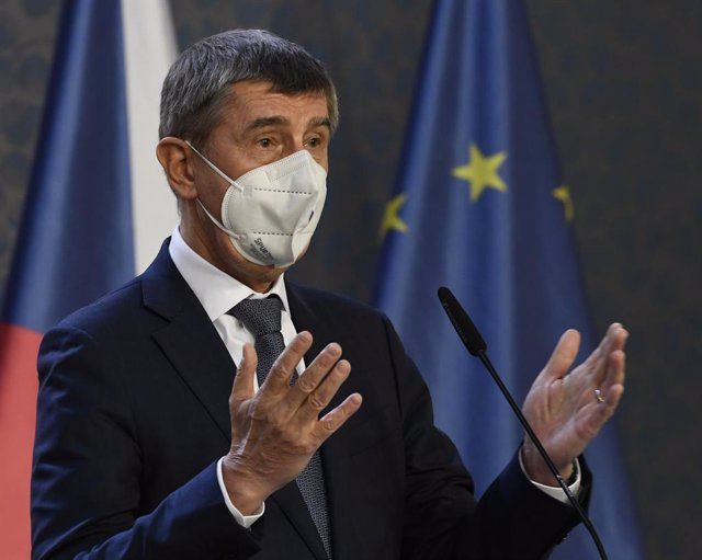 03 February 2021, Czech Republic, Prague: Andrej Babis, Prime Minister of the Czech Republic, speaks during a press conference.  The Czech constitutional court overturned parts of the country's electoral law on Wednesday, eight months before elections are