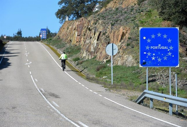 Frontera con Portugal en Valverde del Fresno