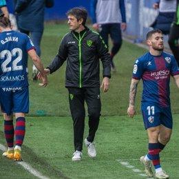 El entrenador de la SD Huesca, José Rojo 'Pacheta'