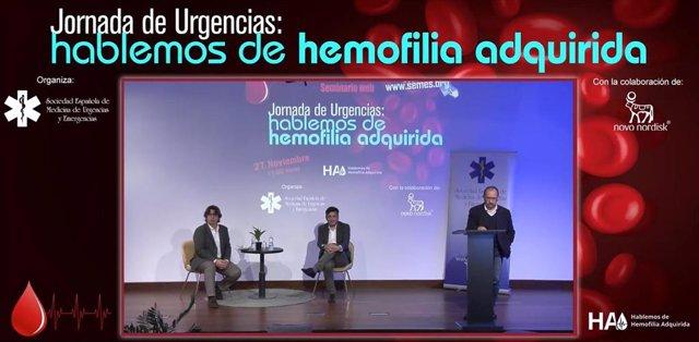 ÛJornada de Urgencias: hablemos de hemofilia adquirida', organizada por SEMES y Novo Nordisk.