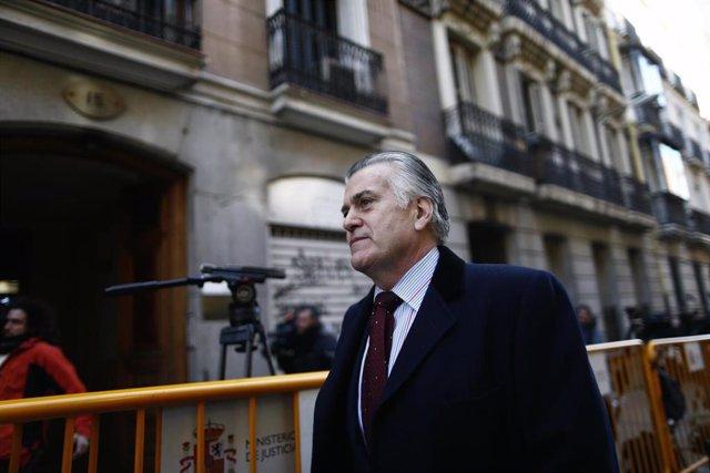 El ex tesorero del PP, Luis Bárcenas llega a la Audiencia Nacional