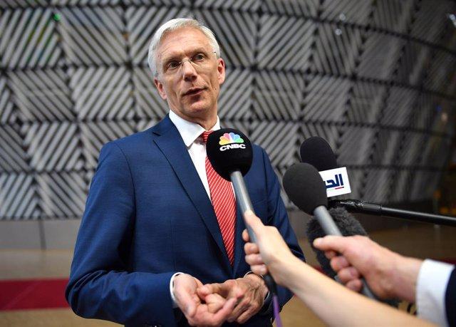 El primer ministro de Letonia, Krisjanis Karins.