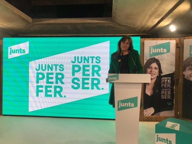 La candidata de Junts a les eleccions, Laura Borràs