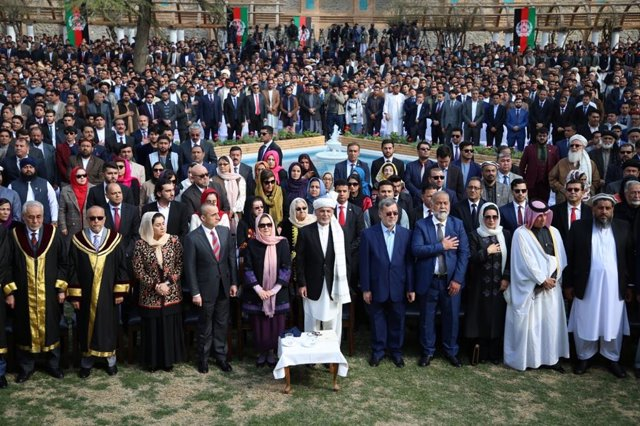 Toma de posesión de Ashraf Ghani en el palacio presidencial de Kabul