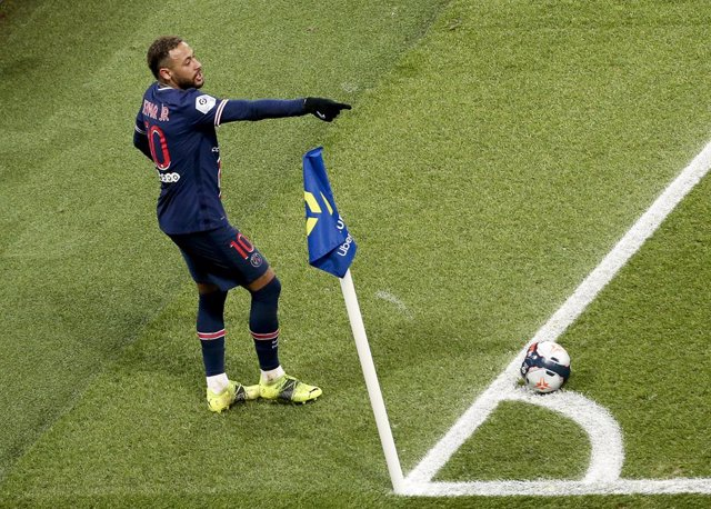 Neymar Jr of PSG during the French championship Ligue 1 football match between Paris Saint-Germain (PSG) and Montpellier HSC (MHSC) on January 22, 2021 at Parc des Princes stadium in Paris, France - Photo Jean Catuffe / DPPI