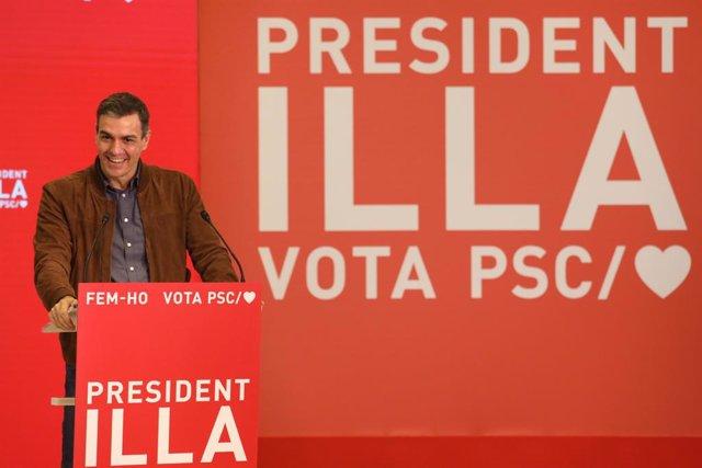 El presidente del Gobierno, Pedro Sánchez, en Salou