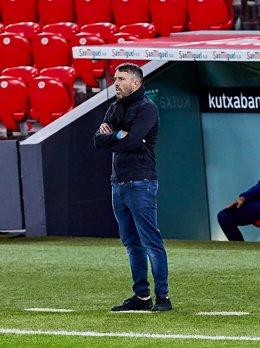 El entrenador del Celta Eduardo Coudet