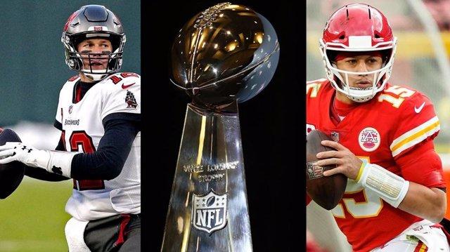 Tom Brady, de Tampa Bay Buccaneers, y Patrick Mahomes, de Kansas City Chiefs, se enfrentarán por el título de la Super Bowl