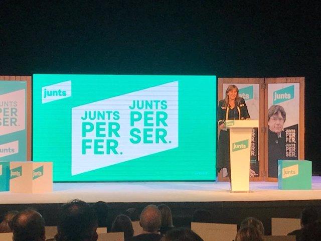 La candidata de Junts a les eleccions catalanes, Laura Borràs