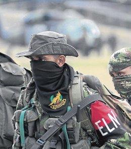 Un guerrillero del Ejército de Liberación Nacional (ELN) de Colombia. Imagen de archivo.
