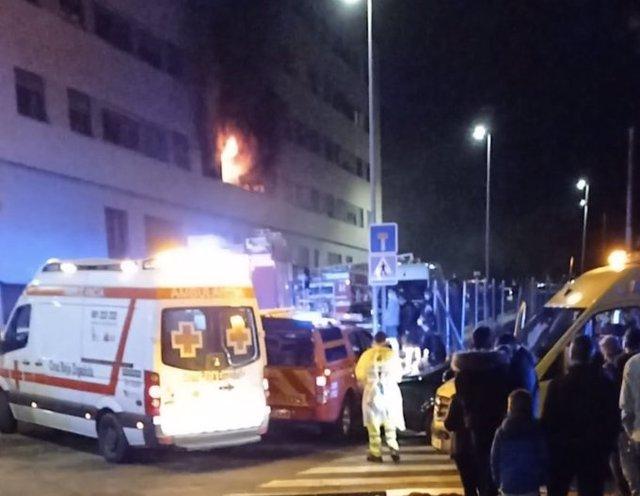 Incendio en una vivienda de Badajoz