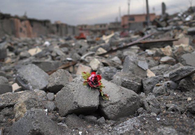 Una población invadida por Estado Islámico en Sinyar