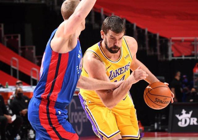 Marc Gasol en el Lakers - Pistons