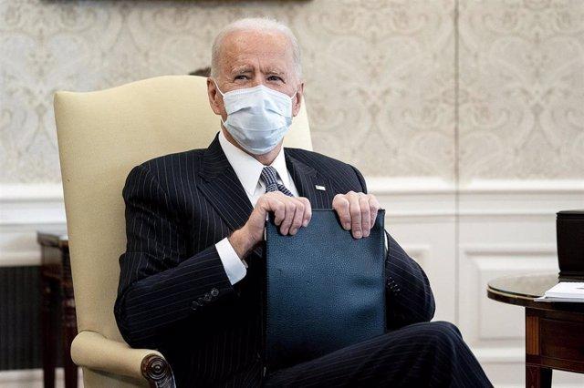 El presidente de Estados Unidos, Joe Biden, en el Despacho Oval