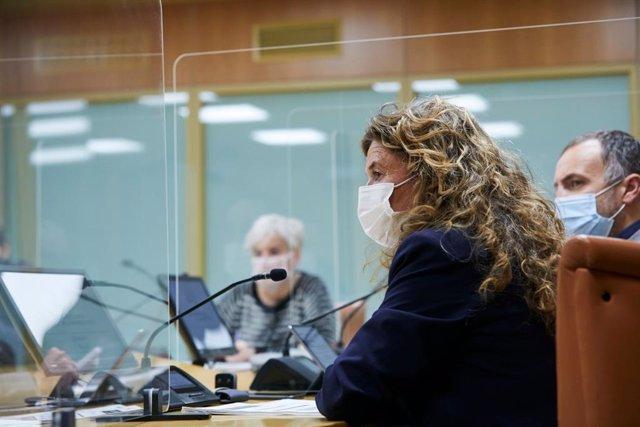 Gotzone Sagardui, en el Parlamento Vasco
