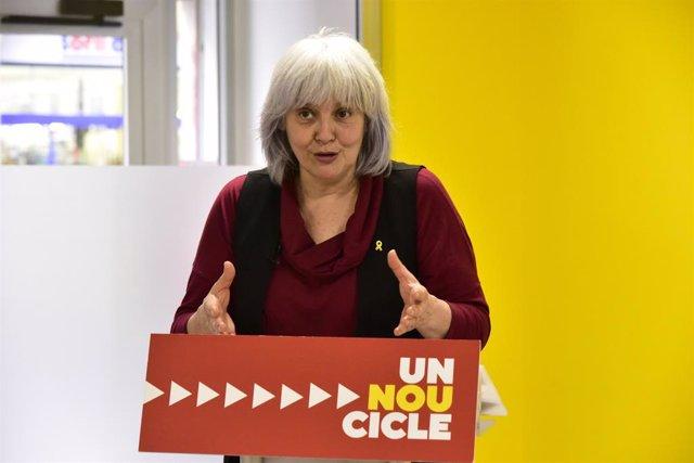 La candidata de la CUP a la presidència de la Generalitat, Dolors Sabater.