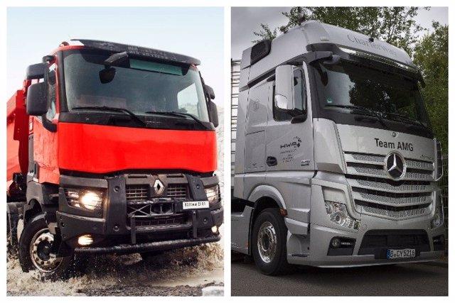 Camiones de Volvo y Daimler (Mercedes-Benz)