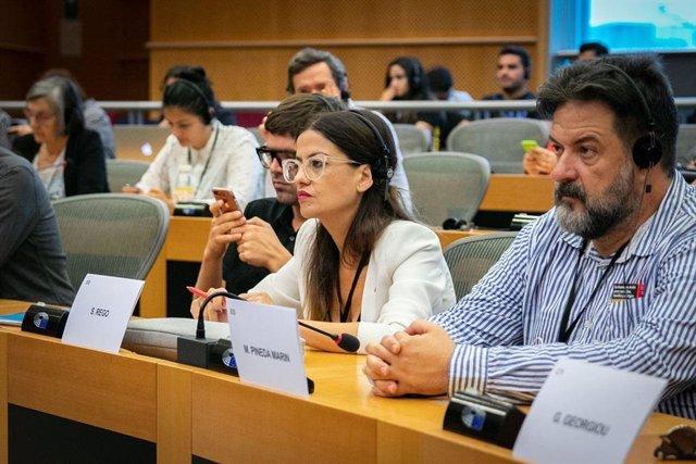 La eurodiputada de IU Sira Rego, en una foto de archivo.