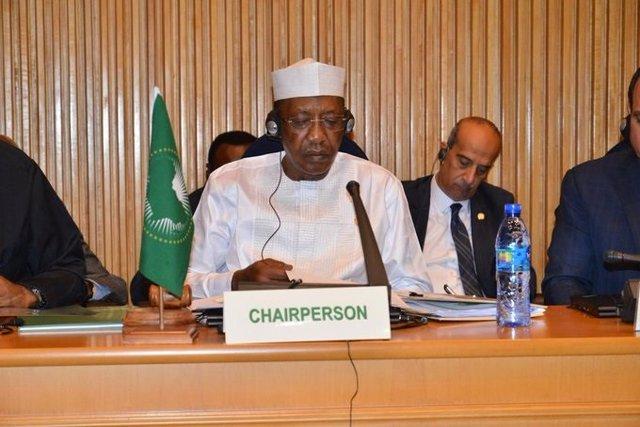 El presidente de Chad, Idris Déby, durante la cumbre de la Unión Africana