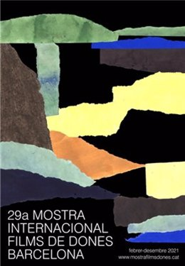 Cartell de l'artista visual Martina Manyà de la 29a Mostra Internacional de Films de Dones de Barcelona.