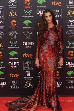 La actriz Ángela Molina, en la pasada edición de los premios Goya