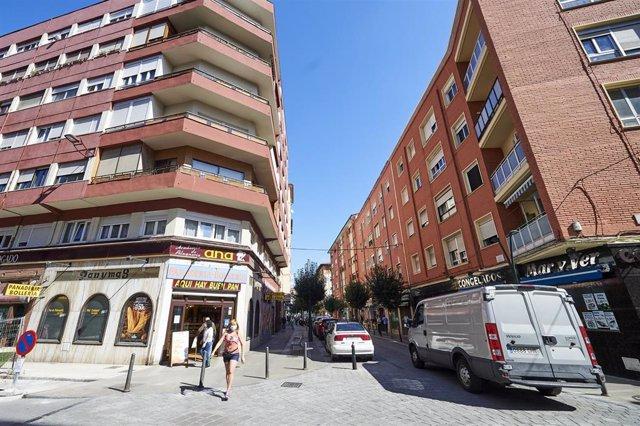 Barrio La Inmobiliaria durante su confinamiento en septiembre