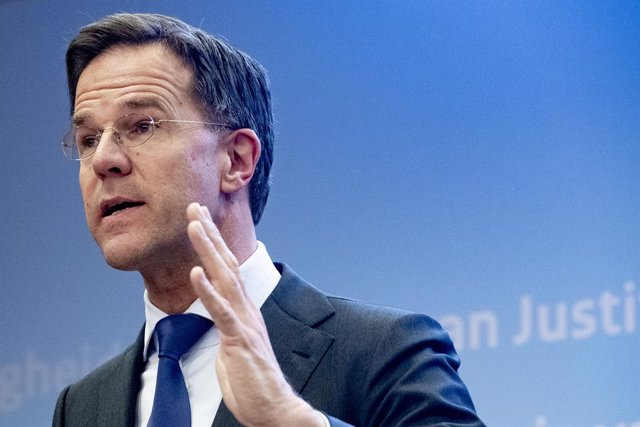23 March 2020, Netherlands, The Hague: Prime Minister of Netherlands Mark Rutte speaks during a press conference about coronavirus (COVID-19) outbreak. Photo: Robin Utrecht/SOPA Images via ZUMA Wire/dpa