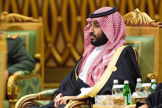 El príncipe heredero saudí, Mohamed bin Salmán, en Riad