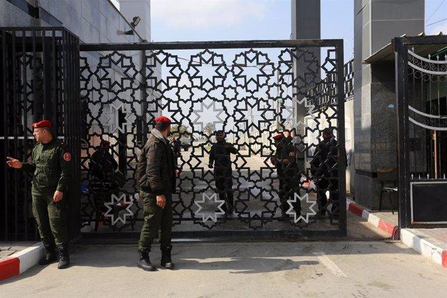 El paso de Rafá, en la frontera entre Egipto y la Franja de Gaza
