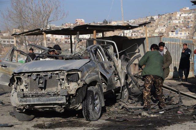 Atentado con coche bomba en Kabul, Afganistán.