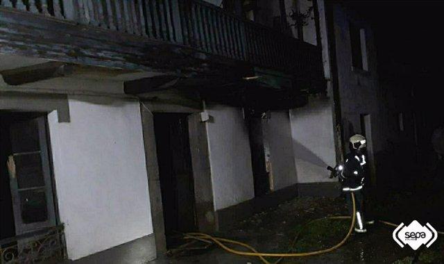 Incendio en una vivienda en Gozón.