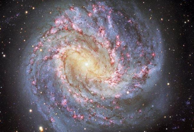 Apodado el Molinillo del Sur, Messier 83 (o NGC 5236) es una impresionante galaxia espiral que se encuentra a unos 15 millones de años luz de distancia en la constelación meridional de Hydra.