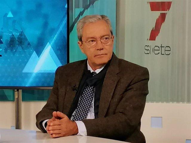 El consejero de Transformación Económica, Rogelio Velasco, este lunes durante su entrevista con 7TV.