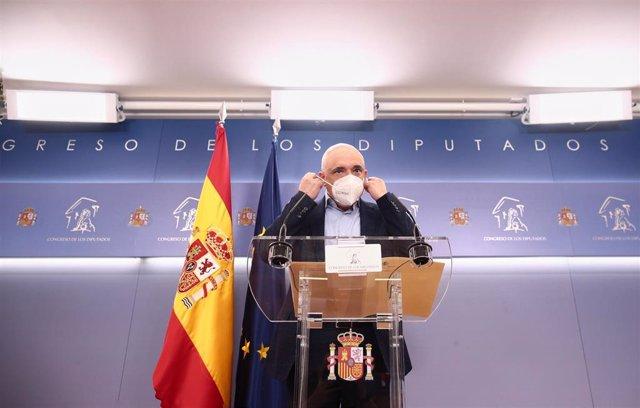El secretario general del grupo socialista en el Congreso, Rafael Simancas