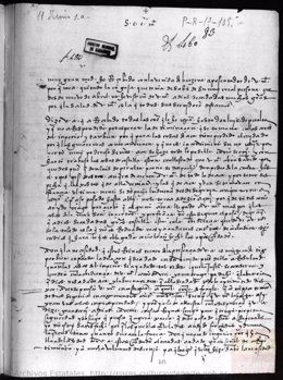 Inicio de la carta en la que se ha basado la investigación que rechaza uno de los mitos del Asedio de Logroño de 1521.