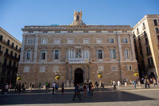 Façana del Palau de la Generalitat de Catalunya.