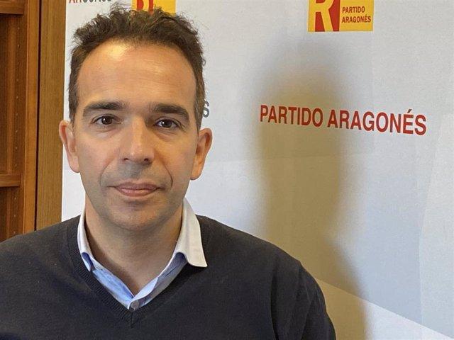 El portavoz del PAR en las Cortes, Jesús Guerrero.