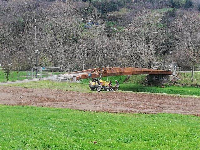 Pasarela del Barranco, en Trapagaran.
