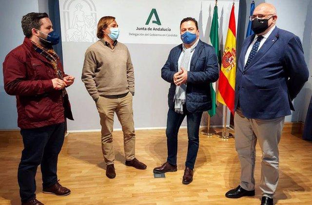 Reunión de alcaldes de la Campiña Sur con el delegado del Gobierno andaluz (2º izda.)