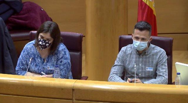 María José Pérez y Juan José Álvarez, del colectivo Jóvenes de Castilla y León.