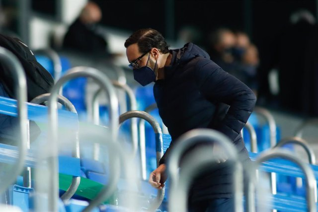 Jose Bordalas, head coach of Getafe, is seen during the spanish league, La Liga Santander, football match played between Real Madrid and Getafe CF at Ciudad Deportiva Real Madrid on february 09, 2021, in Valdebebas, Madrid, Spain.